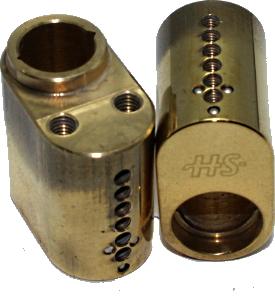 HS Cylinderhus 60 Messing Poleret