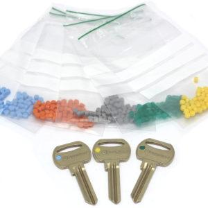 Farvebrikker til nøglehoved (50 stk.)