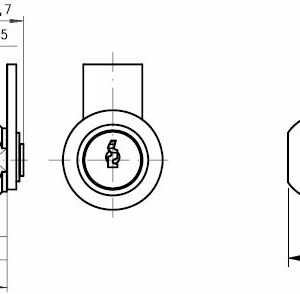 DOM Kamlås 310-01-1 m/2 stk. nøgler