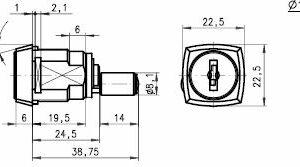 DOM Lås 447-01-7 m/2 stk. nøgler