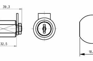 DOM Kamlås 447-07-1 m/2 stk. nøgler
